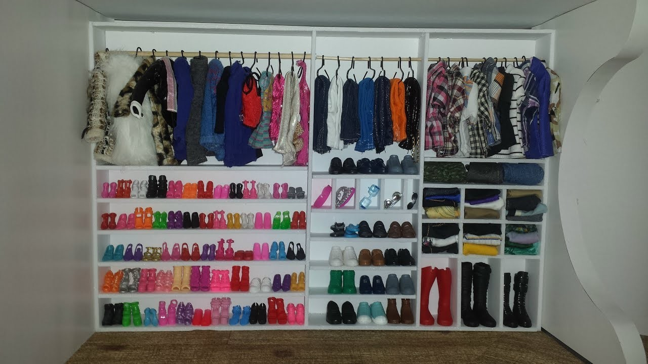 How to make a Doll House  Walk in Closet