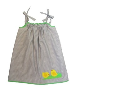 How to make a pillow dress for a little girl - #126