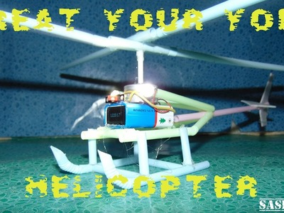 How to make creative flying helicopter-crazy creation