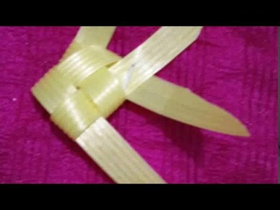 How to make gold fish from plastic tape( fish wire)