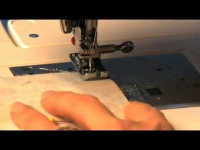 "How to sew a 1.4"" seam allowance with Janome foot"