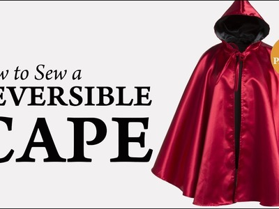 How to Sew a Reversible Cape Tutorial