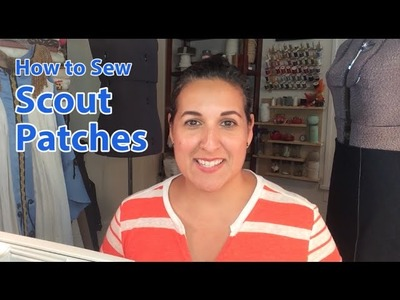 How to Sew Scout Patches