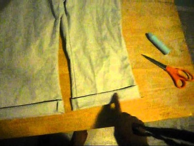 How to turn old pair pants into capris