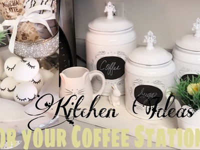 Kitchen Ideas  for your coffee station   Spring Inspired