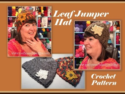 Leaf Jumper Hat Crochet Pattern