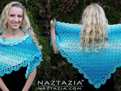 Learn How to Crochet Splendid Shawl - C2C Stitch for Wrap by Naztazia