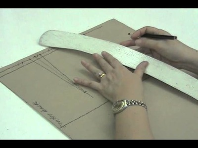 Lesson 2-28  LARGE Back Skirt Part 4 - PATTERN MAKING OF A BASIC DRESS WITH WAISTLINE