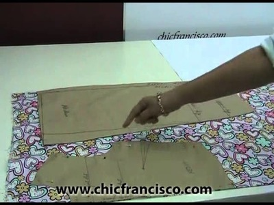 Lesson 2-38  How to Lay and Pin the Patterns on a Non-Directional Printed Fabric