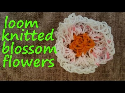 Loom Knitted Blossom Flowers