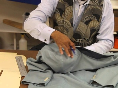 Master Tailoring Tip: Lowering the Back Collar to Get Rid of Excess Fabric Roll on a Jacket