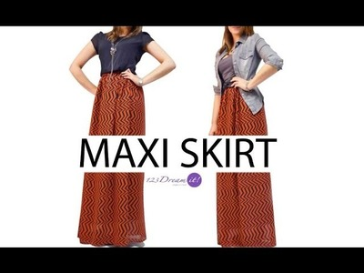Diy denim paperbag maxi skirt with belt part 2