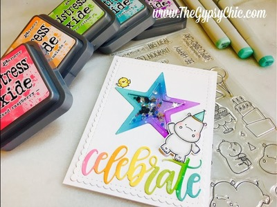 MFT Happy Hippos Celebrate  |  Star Shaker Card Tutorial