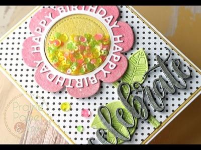 MFT Shaker Flower Birthday Card | Gansai Tambi Pearl Colors