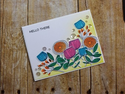 Not 2 Shabby Design Team Project | MFT Sketchy Flowers