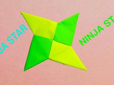 Paper Ninja Star - How to make a throwing four Bladed Ninja star - origami Ninja Blade