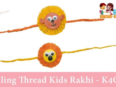 Quilling thread kids Rakhi for Raksha Bandhan at Home - Easy Steps