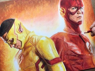 Speed Drawing: The Flash.Kid Flash - DC  - Timelapse | Artology