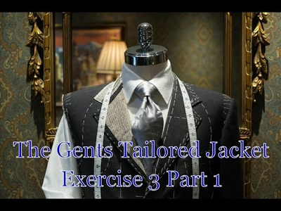 The Gents Tailored jacket course - Exercise 3 part 1 - Pattern prep