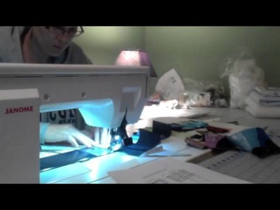 The making of a bargello quilt - adding a strip