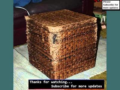 Woven Storage Basket Ideas   Wicker Storage Box Designs