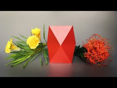 ABC TV | How To Make Vase From Paper - Origami Craft Tutorial #2