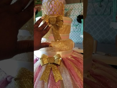 Baby Shower Tutu diaper cake