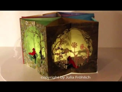 """Beautiful Pup-up carousel book (""""Little Red Riding Hood"""") with a little light inside"""
