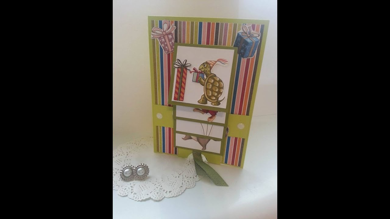 Birthday delivery waterfall card stampin up for Waterfall delivery