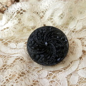 Black Resin Brooch