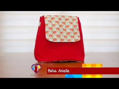 Bolsa mochila de tecido Anielle - Fabric backpack bag. Make a fabric backpack bag. Fabric bags