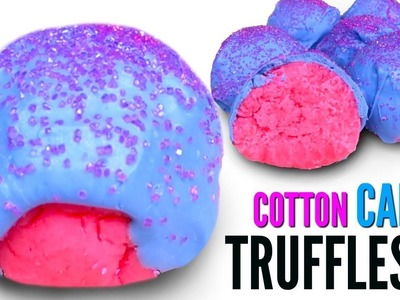 COTTON CANDY TRUFFLES - How To Make Candy Cake Truffles DIY