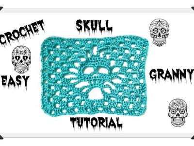 Crochet Granny Skull Easy Tutorial