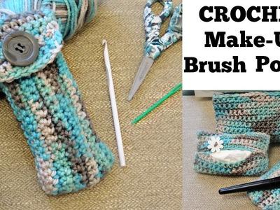 Crochet Makeup Brush Pouch for Beginners