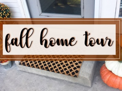 FALL HOME DECOR TOUR! Farmhouse Glam October 1, 2017 ???????? [ apartment. small space! ]