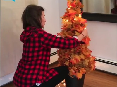 Fall Topiary With Lights in Just 30 Minutes