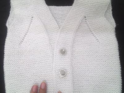 Half Sweater. Jacket in Easy Hindi Knitting ( हाफ स्वेटर या जैकेट कैसे बनाये )