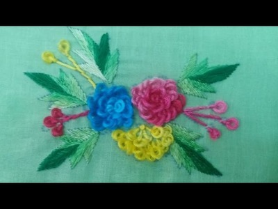 Hand Embroidery: Gobhi Phool.cabbage flower Part-2