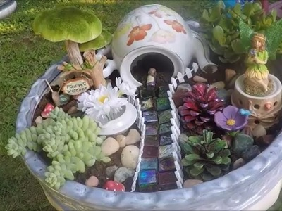 Hawaiian and Woodland Fairy Gardens - How to make them using live plants!