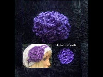How to Crochet a Flower Pattern #56│by ThePatternfamily