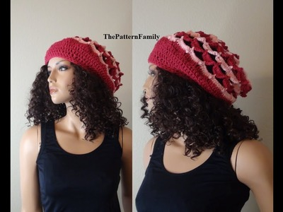 How to Crochet a Slouchy Hat Pattern #64│by ThePatternfamily