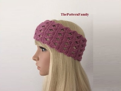 How to Crochet Earwarmers.Headband Pattern #67│by ThePatternfamily