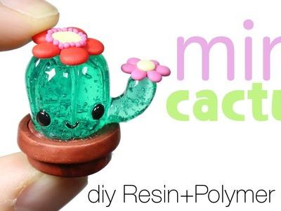How to DIY Cute Miniature Cactus Resin.Polymer Clay Tutorial
