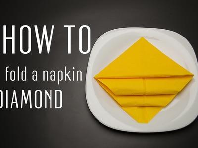 How to Fold a Napkin into a Diamond