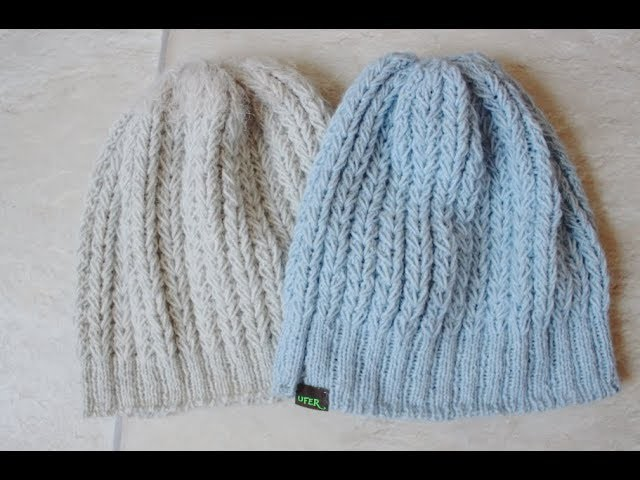 How to knit the fake cable or Wheat Stitch Hat