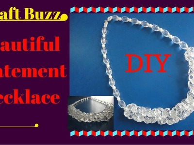 How to make a beautiful beaded statement necklace at home????Craft Buzz# DIY PROJECT