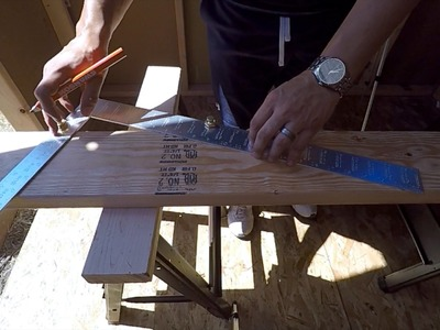 HOW TO MAKE A COMMON RAFTER AND RIDGE BOARD EASIEST WAY!