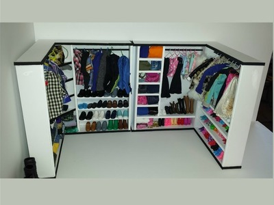 How to make a Doll Walk In Closet with Foam Board