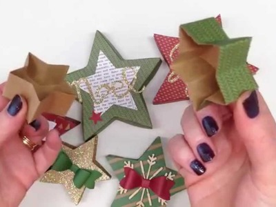 How to make a fully opening box from the Stampin' Up! UK Many Merry Stars kit