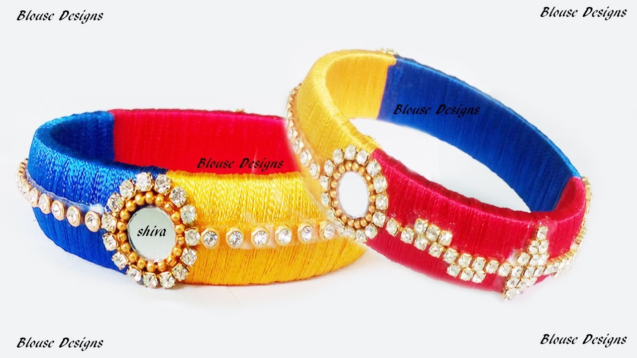 How to make Latest Designer Silk thread bangles